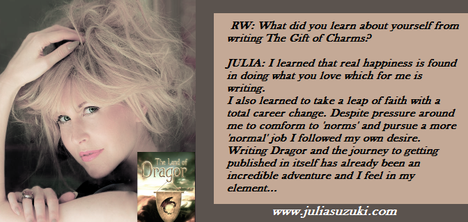 The Gift of Charms @JuliaSuzuki_uk Q&A Read and you'll want more of her.