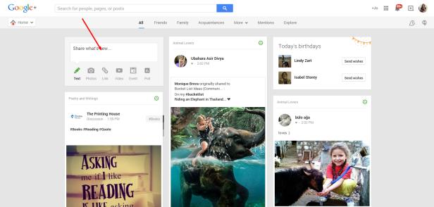 Google Share Box