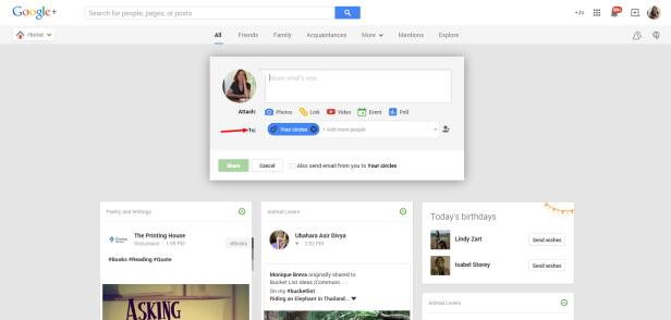 Google Share Circles