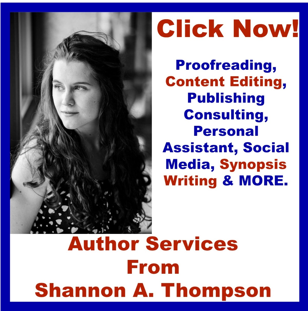 Get services from an expert. Shannon A. Thompson Author Services. @ShanAshleeT23