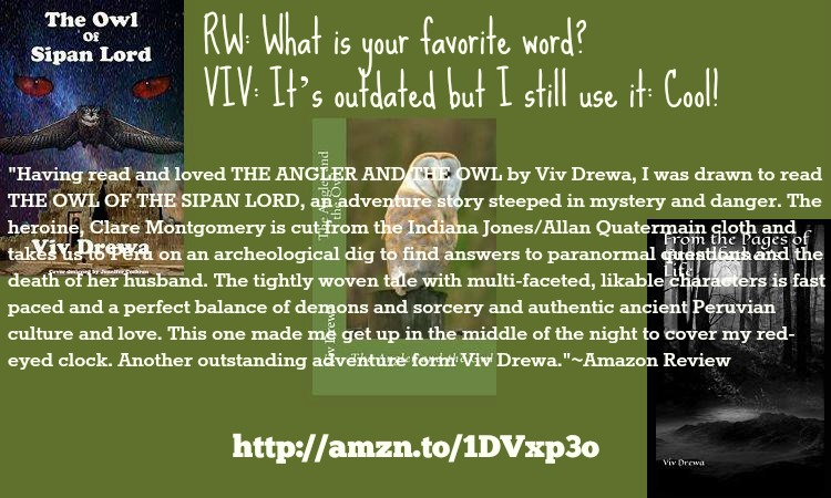 The Owl Interview with the Owl Lady herself@VivDrewa