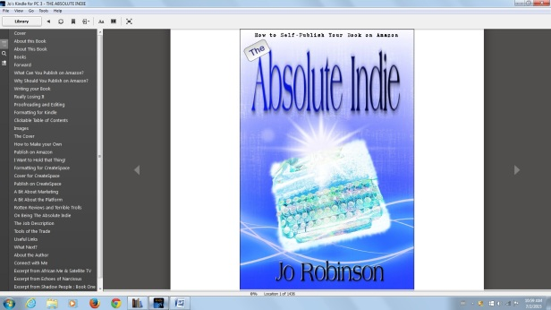 Calibre TOC in Kindle PC