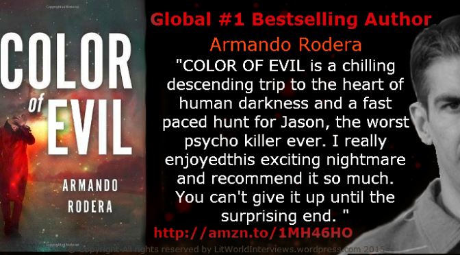 #InterviewsinTranslation. 'Color of Evil' by @ArmandoRodera. Not your usual thriller.