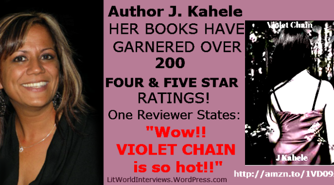Interview with J. Kahele Author of Violet Chain. @JanelleKahele
