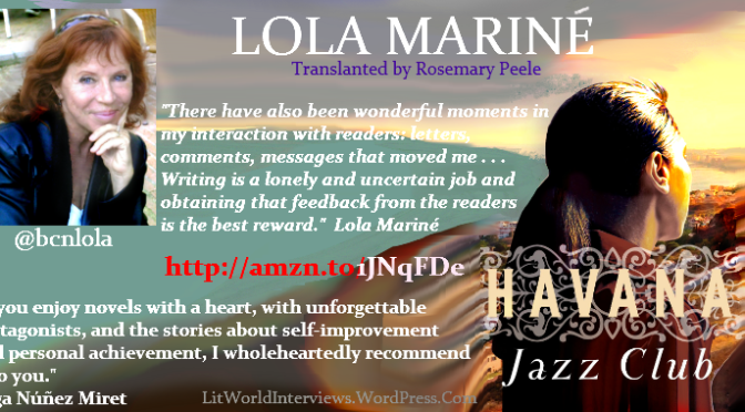 #InterviewsinTranslation 'Havana Jazz Club' by Lola Mariné (@bcnlola). A love story with plenty of music and a touch of Billie Holliday