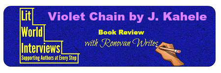 Book Review of a Romance. Violet Chain by J. Kahele. @JanelleKahele
