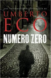 Numero Zero by Umberto Eco. Kindle Cover