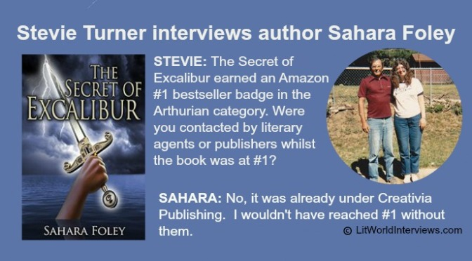 Stevie Turner interviews author Sahara Foley