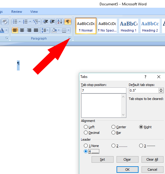 how to create line across page in word