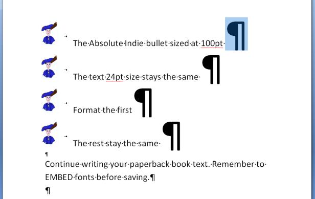 format-bullet-size